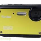 Vorderseite mit Metalloberfläche - im Inneren nimmt ein CMOS-Sensor die Fotos auf.