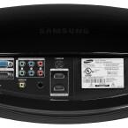 Neben den obligatorischen analogen Videoeingängen bietet der Samsung auch zwei HDMI-Schnittstellen. (Bild: netzwelt)