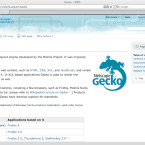 Hinter Firefox steckt eigentlich die Bibliothek Gecko, die für die korrekte Darstellung von Webseiten verantwortlich ist.