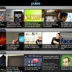 Anders als herkömmliche Newsreader zeigt die App Pulse RSS-Fees ähnlich einer Zeitschrift im horizontalen Mosaik an.