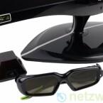 Nvidias 3D Vision Kit aus Sendersation und Shutterbrille benötigt der Betrachter um die Bilder räumlich sehen zu können.