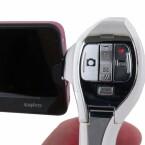 Schwammige Aufnahmetasten und Zoomwippe erschweren die Bedienung.