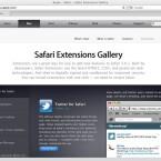 Apple präsentiert gute Erweiterungen in der Safari Extension Gallery.