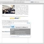 Wählt man einen IATA-Code aus, zeigt Bing den aktuellen Status des Fluges an.