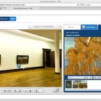 Alle Besucher können wie im echten Museum ganz nah an die Gemälde herantreten, um auch Details zu erkennen.
