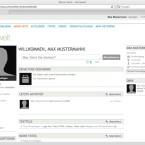 Die Profilseite von Ning bietet einen Blick auf alle wichtigen Aktivitäten der Person.