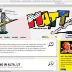 Das private Blog von Matt Mullenweg, dem Entwickler von WordPress, wirkt sehr schrill.