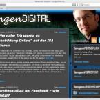 Auf seiner Webseite schreibt der neue Mann für soziale Medien Artikel aus den Bereichen Netzkultur und Bezahldienste.