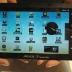 Am Archos-Stand waren gleich fünf neue Tablet-Modelle mit Android zu sehen. Hier der 7-Zöller des französischen Herstellers. Bild: Netzwelt