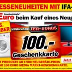 Media Markt gewährt noch bis Mittwoch einen Ifa-Rabatt von 100 Euro.