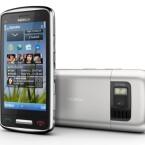 Das C6 besitzt zwei Kameras und ermöglicht damit auch Videotelefonie. (Bild: Nokia)