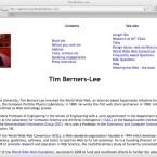 Die Idee, mit HTML und HTTP das Web anzutreiben, stammt von Sir Tim Berners-Lee.