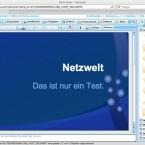 Die Aufteilung ähnelt Empressr und PowerPoint sowie OpenOffice sehr stark.