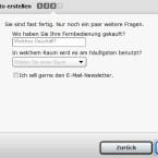 Der Nutzer muss jedoch nicht alles beantworten. (Bild: Screenshot)