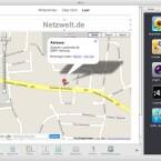 Wie gewohnt kann man zum Beispiel Grafiken aus Google Maps direkt einbauen.