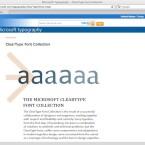 Microsoft hat die Bedeutung von Schriftarten im Web bereits 1996 erkannt.  (Bild: Netzwelt)