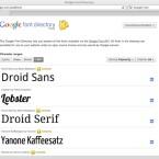 Die Auswahl der verfügbaren Fonts ist aber noch recht gering. (Bild: Netzwelt)
