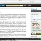Für die Anzeige einzelner Seiten gibt es einen sehr schick aussehenden Reader. (Bild: Netzwelt)
