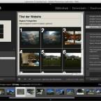 Gut gelungen ist dagegen die Bereitstellung im Web: Hier lassen sich HTML- oder Flash-Galerien erzeugen. (Bild: Netzwelt)