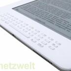 Die Tastatur ist im Vergleich zum Kindle 2 merklich geschrumpft.