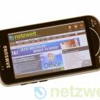 Ins Netz geht der Anwender über UMTS oder WLAN. Eine Alternative zum vorinstallierten Internet Explorer liefert Samsung mit dem Browser Opera Mobile.