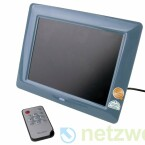 Der 20,23 Zentimter große Bilderrahmen kann auch per Fernbedienung gesteuert werden.