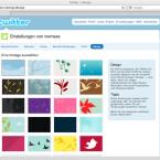 Auswahl der Vorlagen für das Design der eigenen Seite auf Twitter.