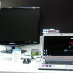 Laptop ohne 3D-Anzeige gibt 3D-Bilder auf externen Monitor aus.