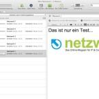 Evernote unter Mac OS X sieht dem Design des Webdienstes sehr ähnlich. (Bild: Netzwelt)
