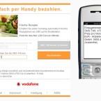 Per Mausklick fordern Sie dann eine Tan-Nummer per SMS an. Die SMS weist noch einmal auf den Preis des Abos hin. (Bild: Vodafone)