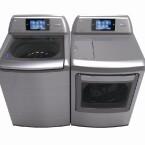 Über das Heimautomatisierungssystem Thinq von LG lassen sich Trockner und Waschmaschine intelligent steuern. (Bild: LG)