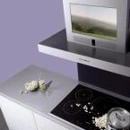Design-Abzugshaube für die intelligente Küche: die multimediaEsse von Siemens. (Bild: Siemens)