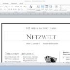 Das Hauptfenster wirkt wie ein Zwitter aus Word und Powerpoint. (Bild: Netzwelt)