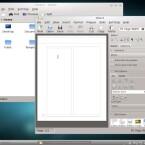 Fedora Core 15 bietet neben Gnome den modernen KDE-Desktop mit KOffice (siehe KWord) an. (Bild: Netzwelt)