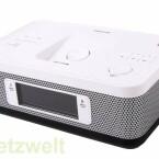 Erinnert ein wenig an 80er-Jahre-Uhrenradios: Das Memorex Dual Alarm Clock Radio hat aber wesentlich mehr zu bieten, etwa eine Schnittstelle für Apple-Geräte. (Bild: netzwelt)