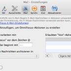 Auf Wunsch kann OmniFocus eine E-Mail-Regel für Apple Mail erzeugen. (Bild: Netzwelt)