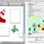 Mit Hilfe der vorgegebenen Schablonen kann der Nutzer auch Karten in seine Dokumente integrieren. (Bild: Netzwelt)