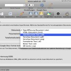 In den Einstellungen kann man ein Format für die Konvertierung einer Datei bei Google Docs auswählen. (Bild: Netzwelt)