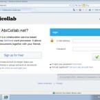 Hinter der Collaborate-Funktion steckt der Webdienst AbiCollab.net, der von der AbiSource Corporation betrieben wird.
