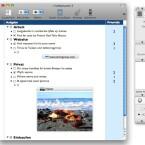 Im Hauptfach zeigt OmniOutliner eine Gliederung der eingefügten Inhalte an. (Bild: Netzwelt)