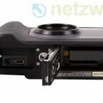 Der Lithium-Ionen-Akku und die SD-Speicherkarte entsprechen dem Standard im Kompaktkamerabereich.