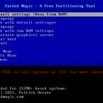 Parted Magic verzichtet in Version 6.0 wieder auf ein grafisches Boot-Menü. (Bild: Netzwelt)