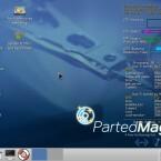 Nach dem Booten erscheint der schlanke LXDE-Desktop, der sehr sparsam mit den Systemressourcen umgeht. (Bild: Netzwelt)
