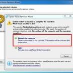 Starten Sie den Rechner durch Klick auf den markierten Eintrag neu. (Bild: Screenshot)