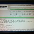 Während des Neustarts nimmt der Partition Manager die Änderungen vor, dabei kann der Monitor flackern. Nach der Überprüfung der Festplatte startet Windows neu. (Bild: Screenshot)