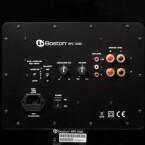 Der Subwoofer hat alles an Bord, was man im Heimkino benötigt: Regler für Lautstärke, Phase und Trennfrequenz. Auch ein getrennter Eingang für LFE-Signale steht bereit.