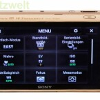 Die Bedienung der Kamera erfolgt über den drei Zoll großen Touchscreen.