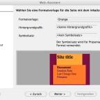 OpenOffice.org besitzt dutzende vorgefertigte Designs für Webseiten. (Bild: Netzwelt)