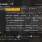 Der Topfield kann in der EPG-Mehrfachansicht die folgenden Sendungen von bis zu sieben Kanälen anzeigen. (Bild: netzwelt)
