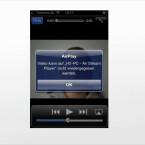 Der Air Stream Player erzeugt bisweilen irrtümliche Fehlermeldungen. Im Test spielte die Software trotzdem Youtube-Filme auf dem Desktop ab. (Bild: Screenshot)